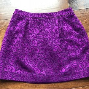Purple Printed Skirt from Anthropologie